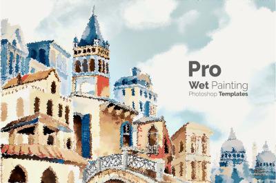 Pro Wet Painting Photoshop Templates