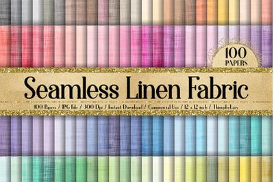 100 Seamless Linen Denim Burlap Fabric Texture Digital Papers