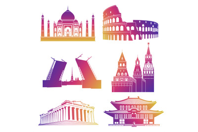Watercolor Travel Vacation Clipart By Foxydigitalart