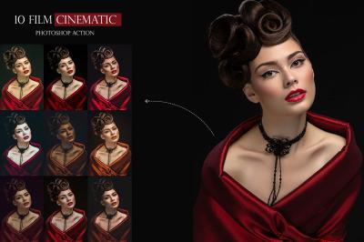 10 Film Cinematic Photoshop Action
