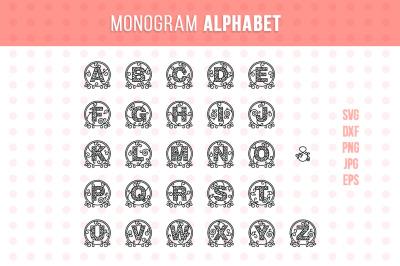 Round Monogram Alphabet