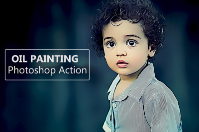 Oil Painting 2 - Photoshop Action