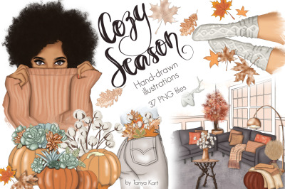 Cozy Season Clipart & Patterns