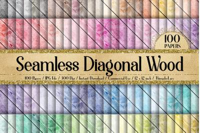 100 Seamless Real Diagonal Rustic Natural Wood Texture Digital Papers