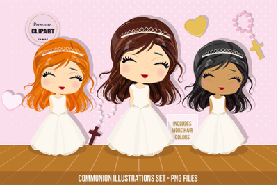Communion clipart, First Communion graphics