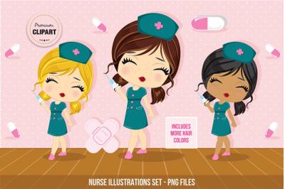 Nurse graphics, Medical illustrations