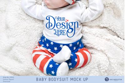 Baby Bodysuit mock up - Patriotic