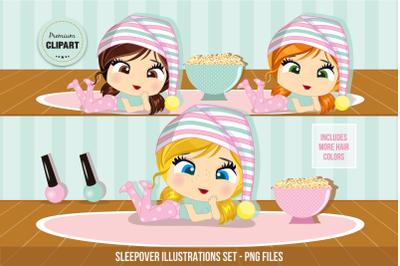 Sleepover clipart, Pyjamas clipart