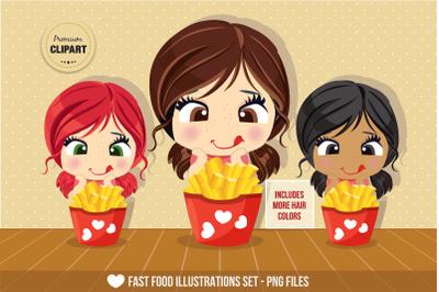 Fast food graphics, Fast food illustrations, Food stickers