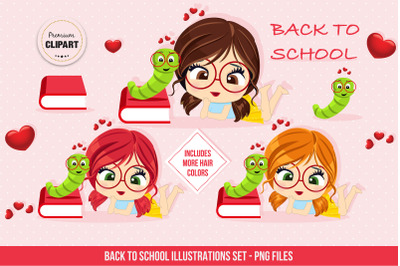 Back to school graphics, Back to school illustrations