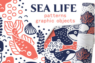 SEA LIFE | Seamless patterns pack