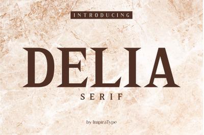 Delia - Regular and Bold Serif