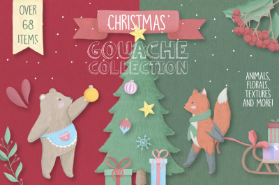 Christmas Gouache Collection