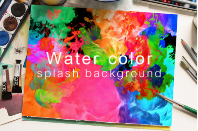 Water color splash background