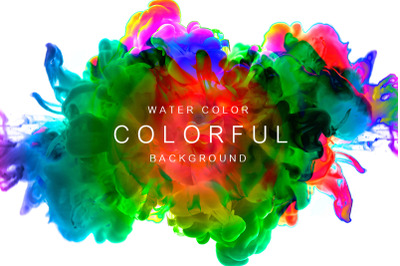 Water color colorful background