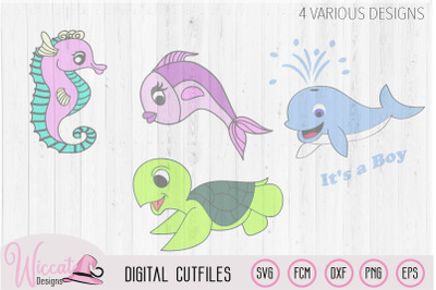 Sea animals bundle