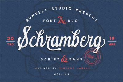 Schramberg Font Duo + Logo Template