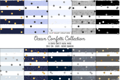 Ocean Confetti Collection Digital Papers