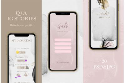 Q+A Instagram Stories Game Templates, Instagram Stories, Social Media