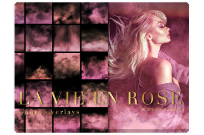 Pink Fog Photo Overlays Bundle