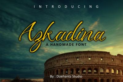 Azkadina - A Handmade Font