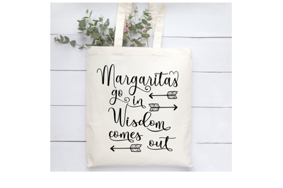 Margaritas go in Wisdom comes out