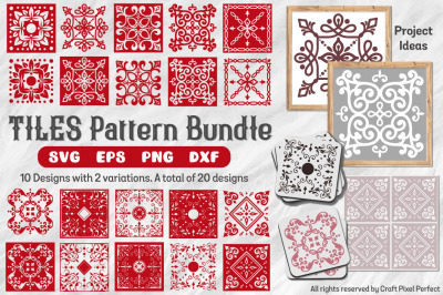 Tile Patterns Bundle, Tiles Svg, Tile Stencils Svg