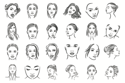 24 Woman face illustration
