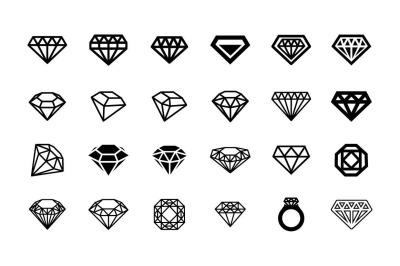 24 Diamonds icon set