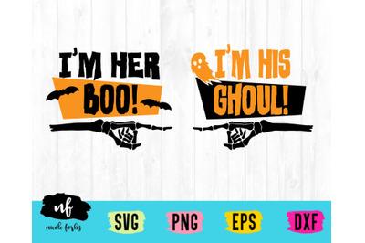 Halloween Couple SVG Cut File