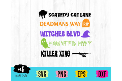 Halloween Street Sign SVG Cut File