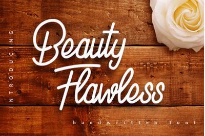 Beauty Flawless - Handwritten Font