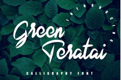 Green Teratai - Modern Handwritteen Font
