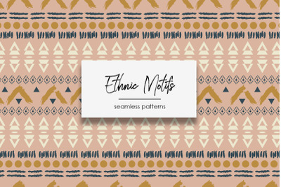 """Ethnic Motifs"" - Seamless Patterns"