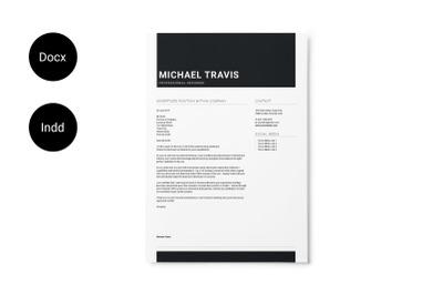 Black Minimal Resume