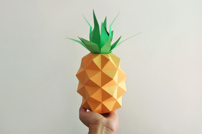 DIY Pineapple model - 3d papercraft