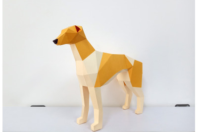 DIY Greyhound dog - 3d papercraft