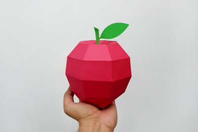 DIY Apple model - 3d papercraft