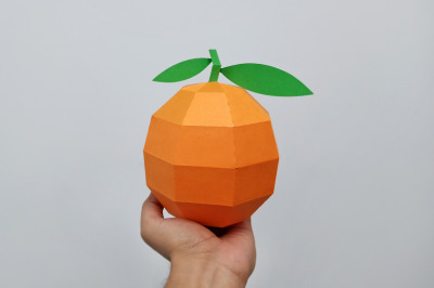 DIY Orange model - 3d papercraft