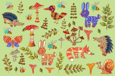 Illustrations for forest design.