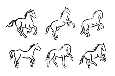 Horse symbol graphic illustration
