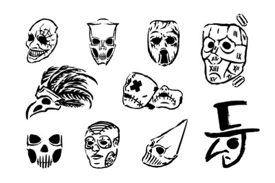 Masks icon illustrations