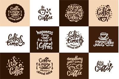 Coffee hand drown illustrations