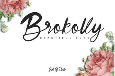 Brokolly - Handwritten Font