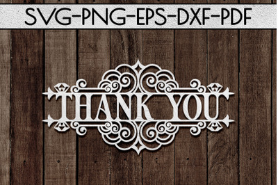 Thank You 6 Papercut Template, Appreciation Sign SVG, PDF
