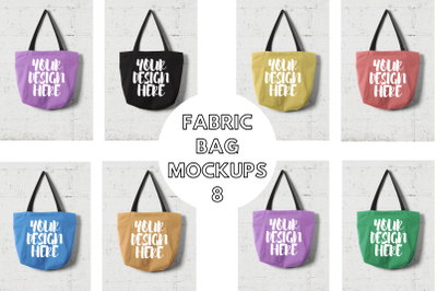 Fabric Bag Mock Ups with Wall Background - 8