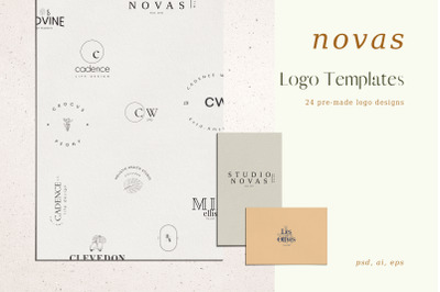 Novas, Pre-made logo Set of 24 logos