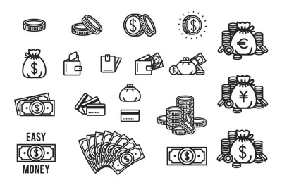 20 Money icon set