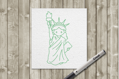Cute Statue of Liberty for Pens | SVG | PNG | DXF