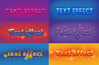 6 text effects set